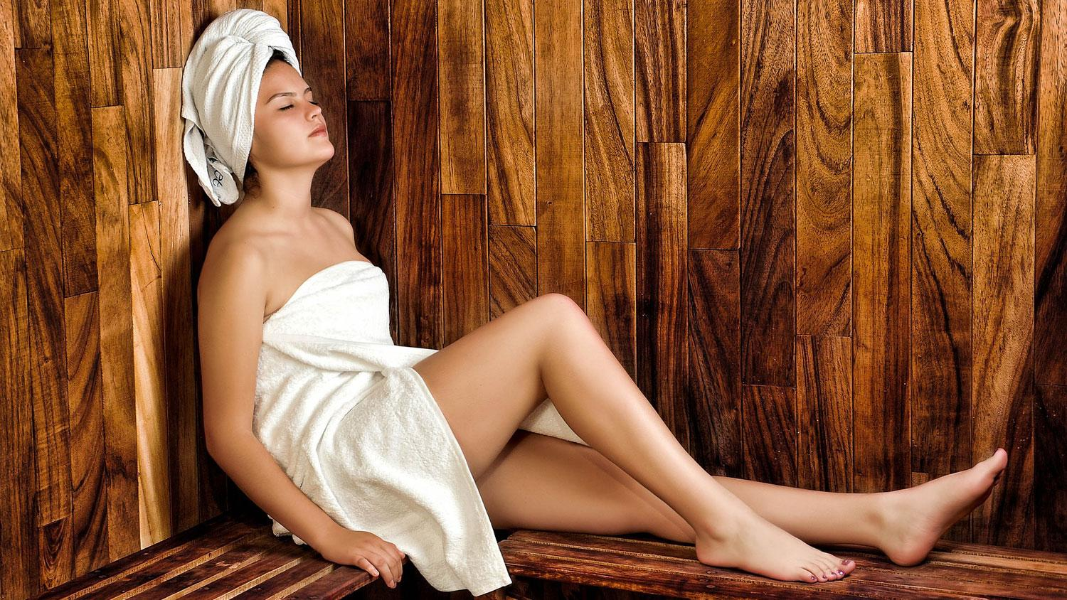 Sydney Best Spas - Woman in Sauna